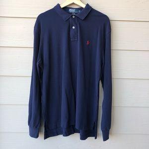 Polo Ralph Lauren Navy Long Sleeve Polo Size L